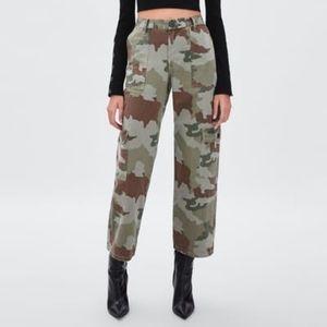 Zara TRF Camouflage Cargo Pants